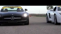 Drag race Mercedes SLS AMG vs. Porsche 911 Turbo S vs. Lamborghini Gallardo LP4-560